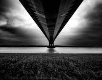 Beneath the Humber Bridge - Monochrome